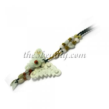 Handcrafted Jade Butterfly Hand-Knit Necklace