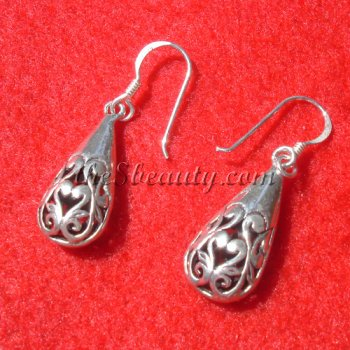Handcrafted Sterling Silver Vintage Style Earrings