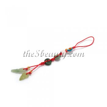 Jade Charm With Chinese Lucky Knot