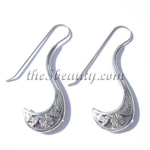 Handcrafted Sterling Silver Vintage Style Earrings - Click Image to Close