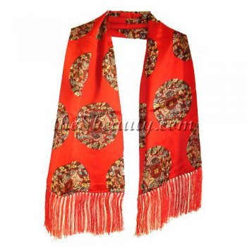 Long Ancient Design Silk Scarf